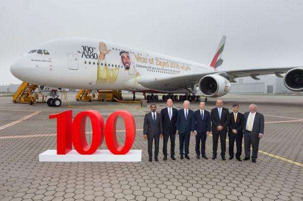 100. Airbus A380 für Emirates