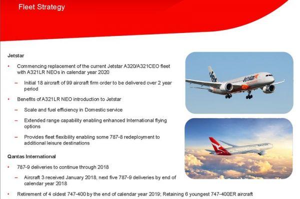 Qantas Flottenstrategie