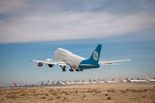 GE9X an Boeing 747-400 Testbed