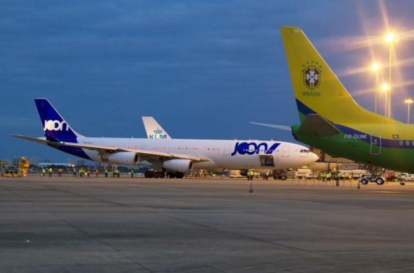 Joon Airbus A340 auf dem internationalen Flughafen von Fortaleza
