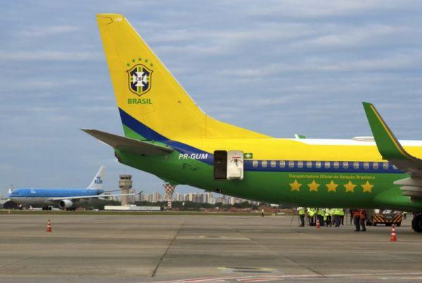 KLM auf dem internationalen Flughafen in Fortaleza