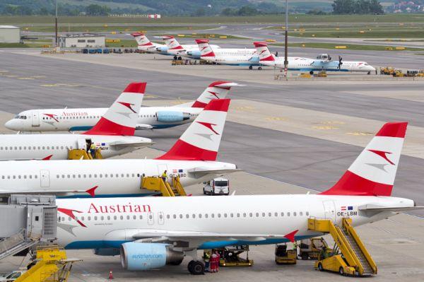 Austrian am Flughafen Wien