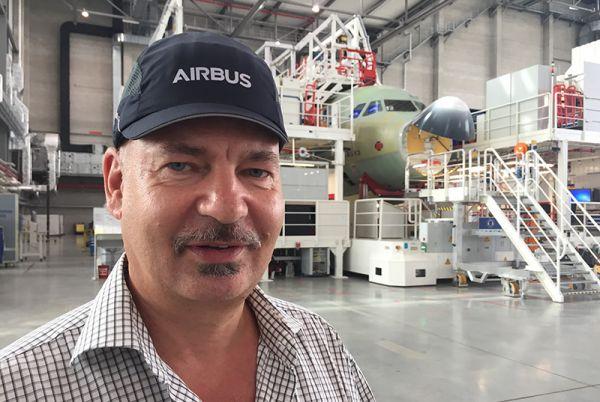 Frank Rocksien, Chef der vierten A320 Endmontage-Linie in Hamburg Finkenwerder