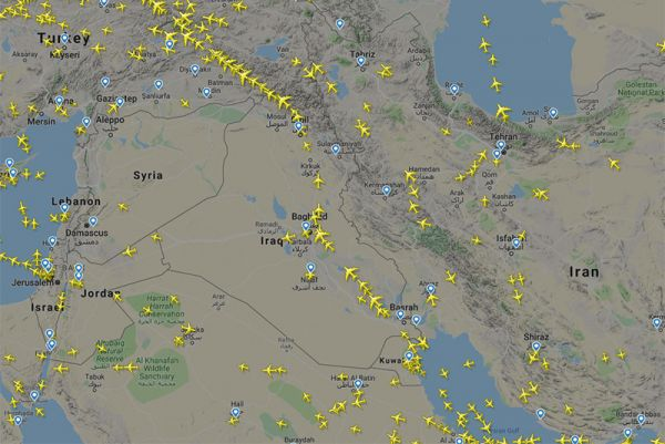 Die Tehran Flight Information Region (FIR) am 12.09.2018