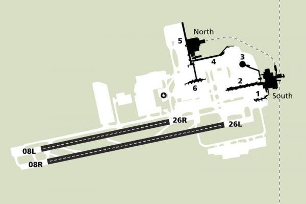 Gatwick Flughafenlayout