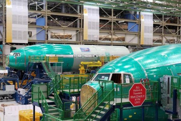 Boeing hat die Sektionsmontage der ersten beiden fliegenden 777-9 begonnen.