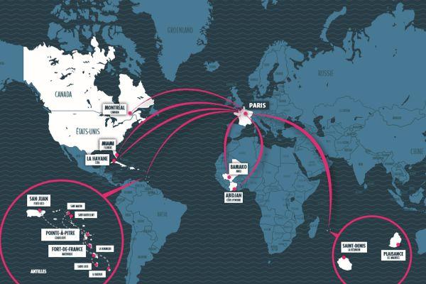 Das Corsair-Streckennetz