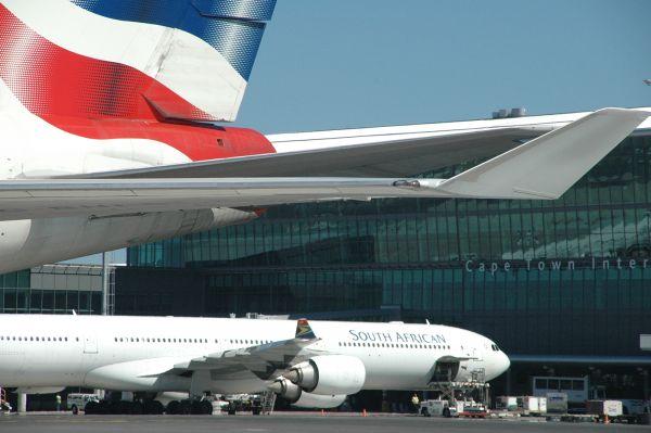 British Airways und South African Airlines in Kapstadt
