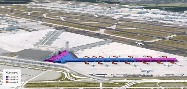 Flughafen Franfurt plant Flugsteig G