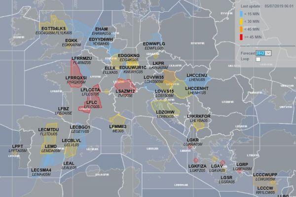 Verspätungen im europäischen Luftraum