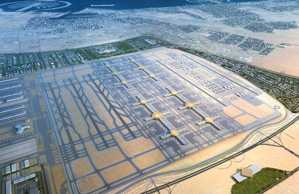 Der Dubai World Central Airport als Modell