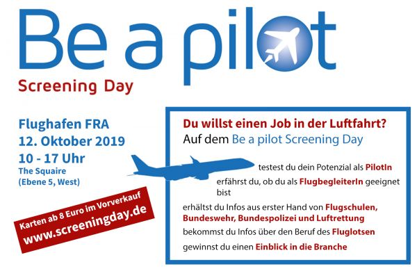 Be a pilot Screening Day 2019