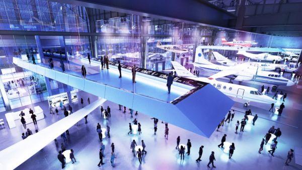 Entwurf der Ausstellungsräume