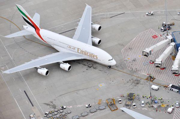 Emirates Airbus A380 in Sydney