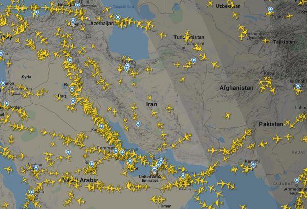 Screenshot Flightradar24.com vom 13. Januar 2020