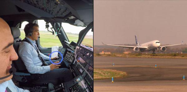 Airbus A350-1000 startet automatisch
