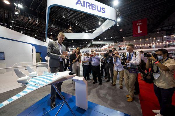 Airbus Maveric als Modell auf der Singapore Airshow 2020