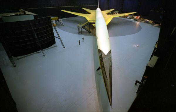 Das Modell des Boeing-Überschalljets aus dem Jahr 1966