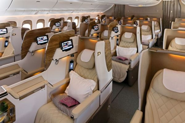 Emirates Boeing 777-300ER Business Class Cabin