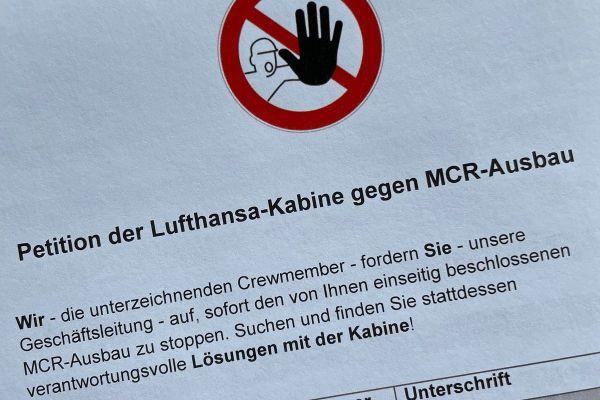 Petition gegen MCR-Ausbau