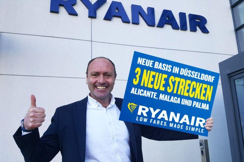 Ryanair eröffnet Station am Flughafen Düsseldorf