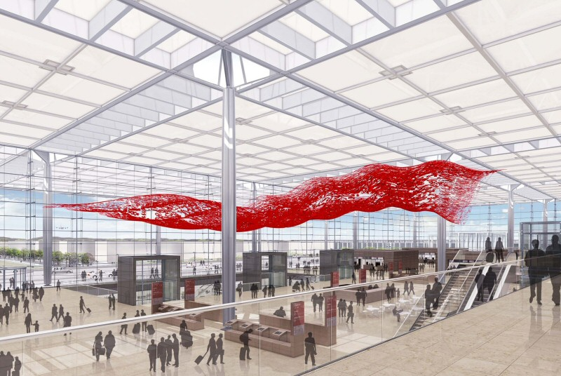 Hauptstadtflughafen BBI stellt erste Kunstwerke für