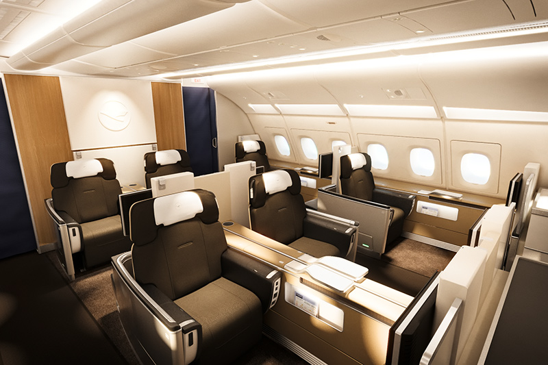 lufthansa k rzt angebot in der first class. Black Bedroom Furniture Sets. Home Design Ideas