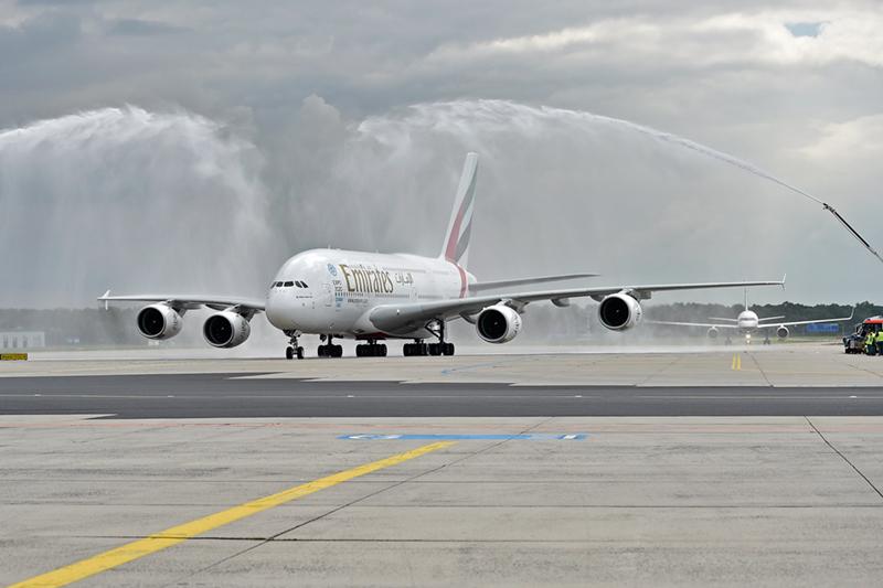 emirates zweiter t glicher a380 flug nach frankfurt. Black Bedroom Furniture Sets. Home Design Ideas