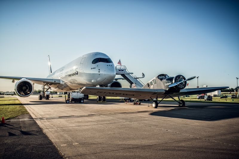Airbus A350 begegnet neuer Junkers F 13
